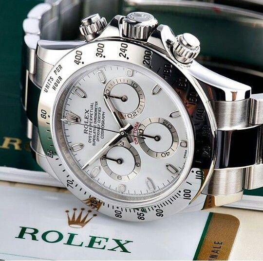 SS white face Rolex Daytona