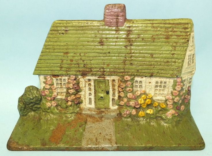 ANTIQUE NATIONAL FOUNDRY CAPE COD COTTAGE #90 CAST IRON METAL DOOR STOP STATUTE & 92 best vintage cast iron cottage doorstops and knockers images on ...