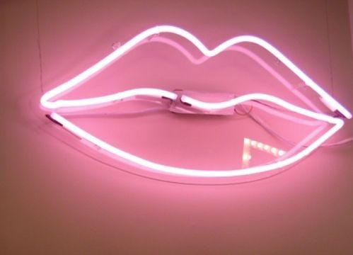 LIPS neon sign pink light ready to install in by WynwoodGallery