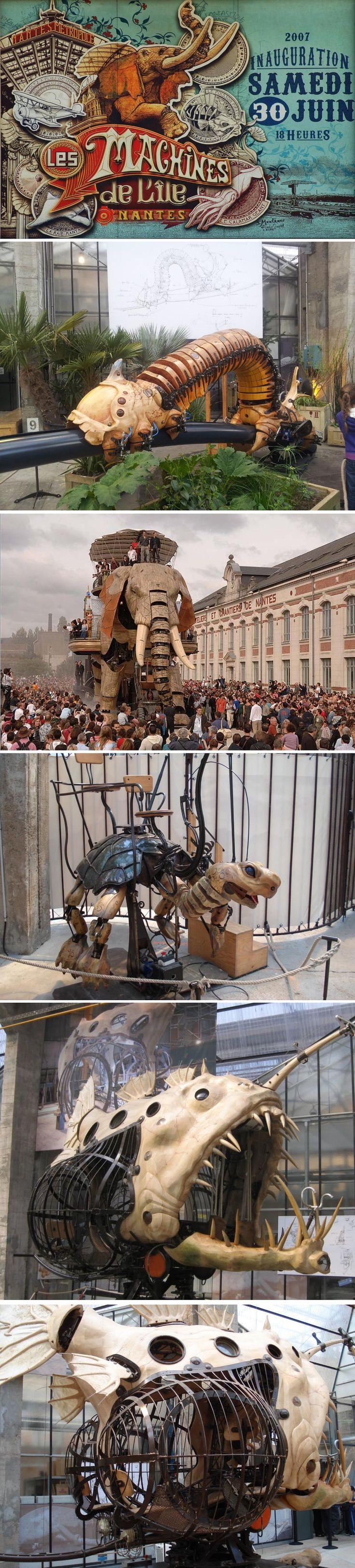 The Machines de l'Ile is an amazing French artistic project. It is a blend of the invented worlds of Jules Verne, the mechanical universe of Leonardo da Vinci, and the industrial history of Nantes, on the exceptional site of the former shipyards. www.lesmachines-n...