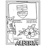 Alberta colouring page. There're pages for each U.S. state and Canadian province as well as most countries.