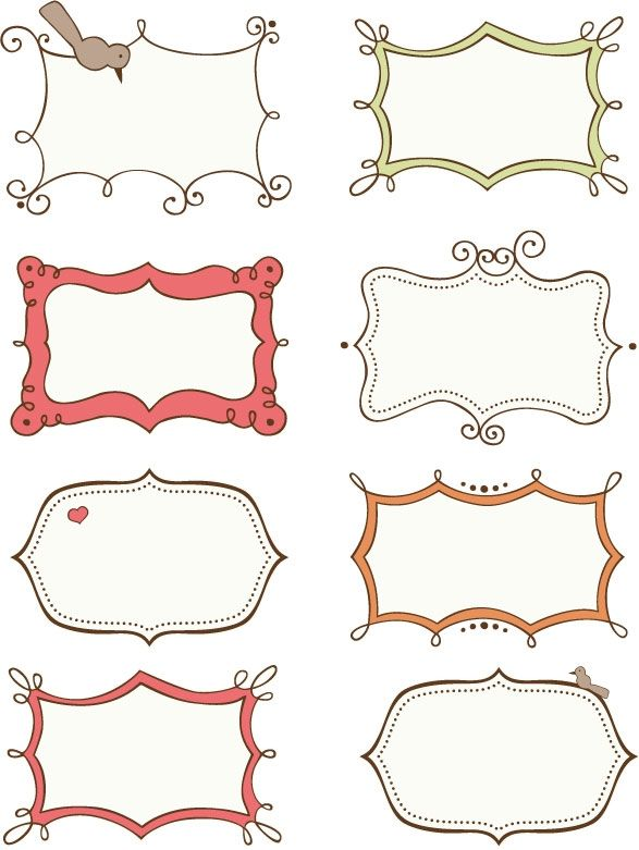Doodle Frames and Border - Free Printables (I think I'll see if I can turn these into vectors ... So cool.)
