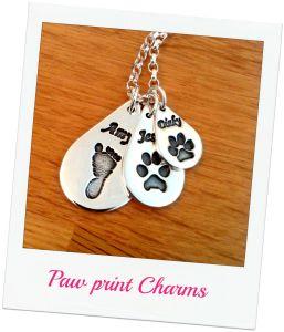 jewellery with hand prints - Triple Set