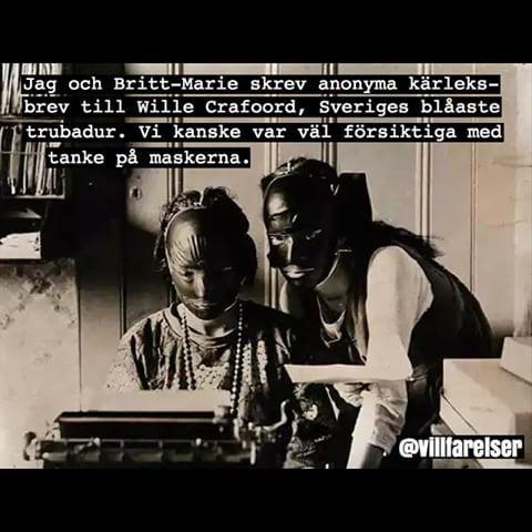 #crafoord #trubadur #blå #mask #villfarelser #ironi #humor #text #poesi #foto