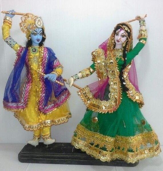 Hand MAde Radha Krishna Dolls