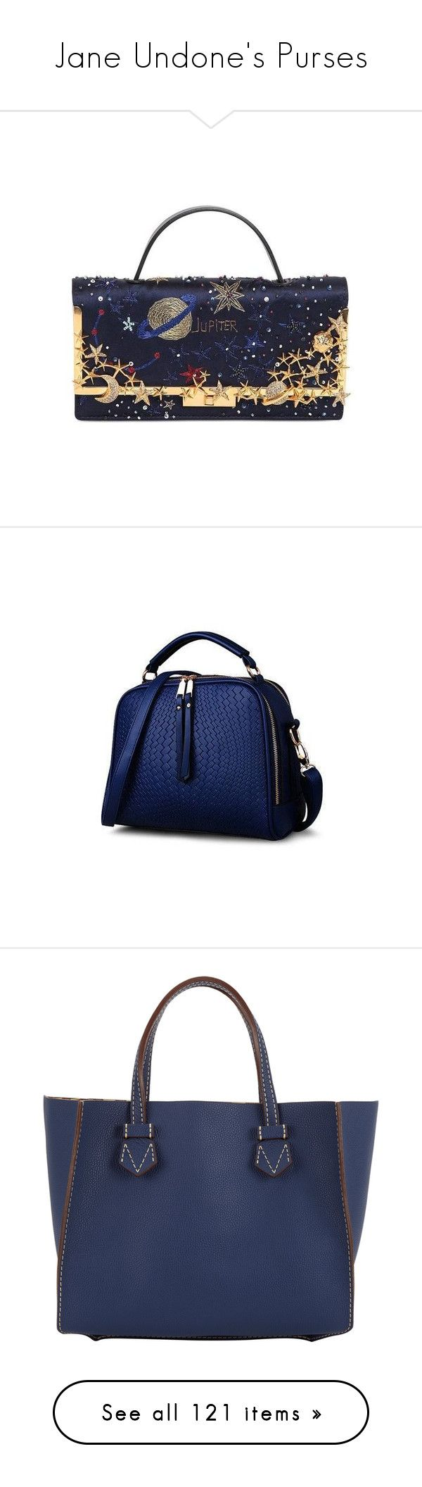 """""""Jane Undone's Purses"""" by janeundone on Polyvore featuring bags, handbags, shoulder bags, navy, blue shoulder bag, patent leather purse, fold over purse, navy patent leather handbag, navy blue shoulder bag and navy leather purse"""