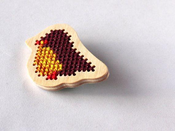 Little bird brooch for girl kids jewelry by SalixCinerea on Etsy