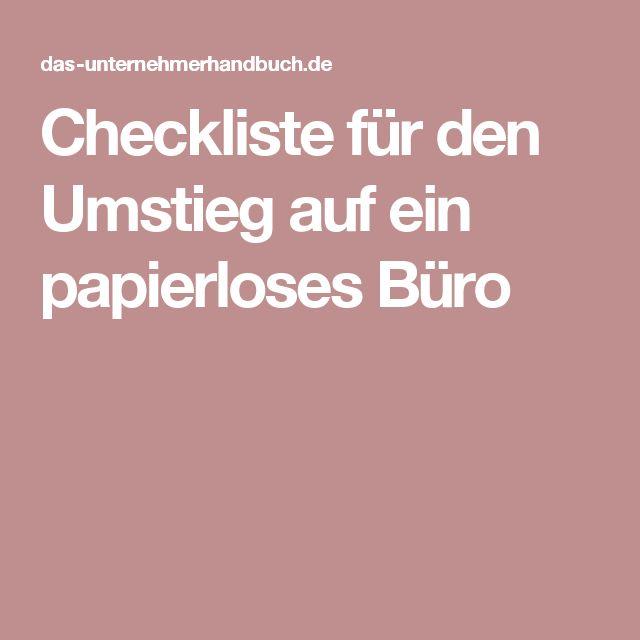 Checkliste für den Umstieg auf ein papierloses Büro