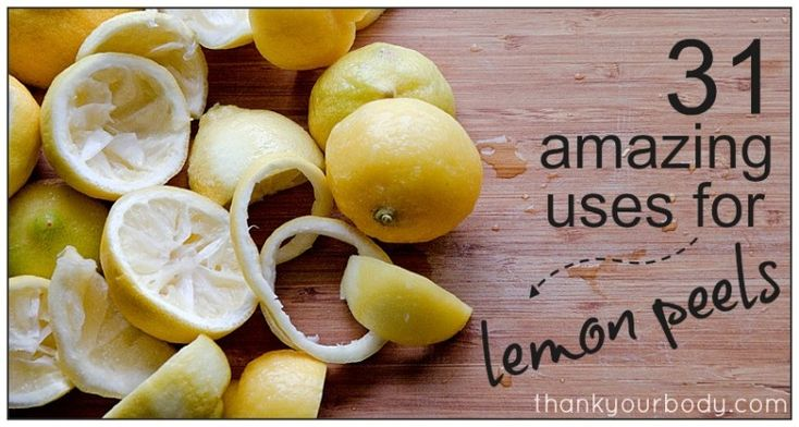 31 ways to use a lemon peel So any of you who have done the master cleanse know that you end up with a lot of lemon peels. Well this go round I wanted to maximize my lemonocity (djm). So I actually tried quite a few of these. My favorite was boiling them with a cinnamon stick.  Enjoy!