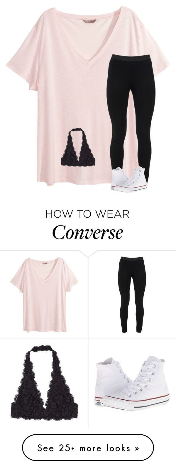 HALPY BIRTHDAY LILLY by katherinecat14 on Polyvore featuring H&M, Peace of Cloth and Converse