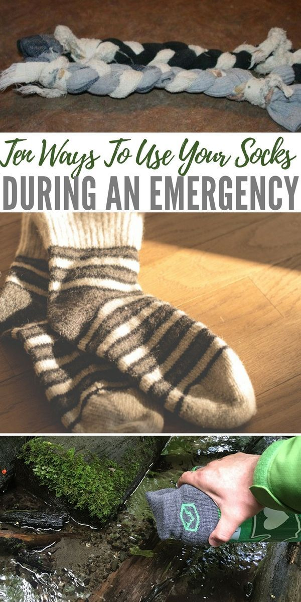 Ten Ways To Use Your Socks During An Emergency - lHuman ingenuity is the main tool that helped mankind survive through harsh times. No matter how much people had to endure, they always manage to find a way out of a gruesome situation. As preppers, we often have to think outside the box to solve our problems. #lifehacks #hacks #reuse #socks #prepping