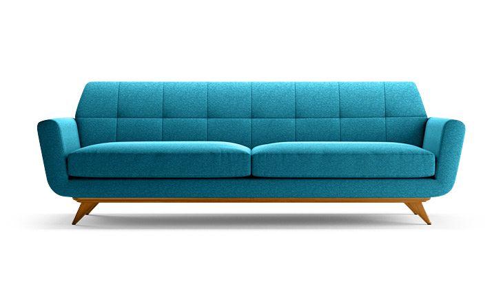 Hughes mid century Sofa in Lucky Turquoise by Joybird