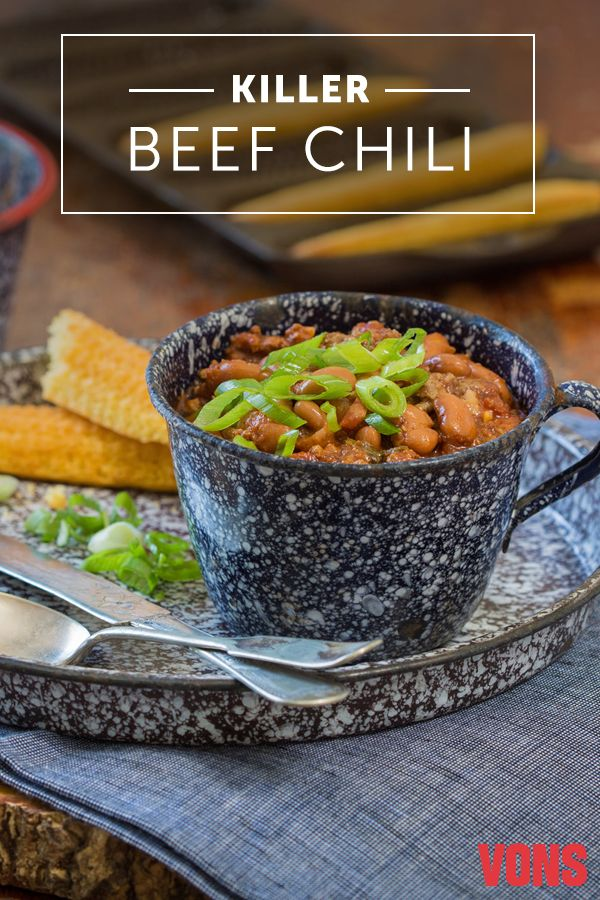 Warm up with this hearty and delicious Killer Beef Chili recipe! Loaded with pinto beans, ground beef and tomatoes, this dish will warm the hearts (and bellies!) of the entire family.