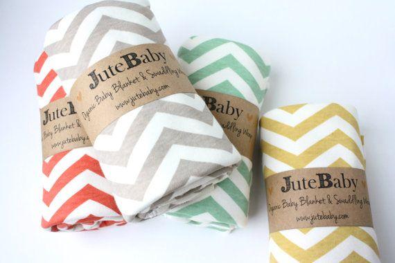 Organic Baby Blanket, Grey Chevron Baby Blanket, Toddler Blanket by JuteBaby on Etsy, $35.00