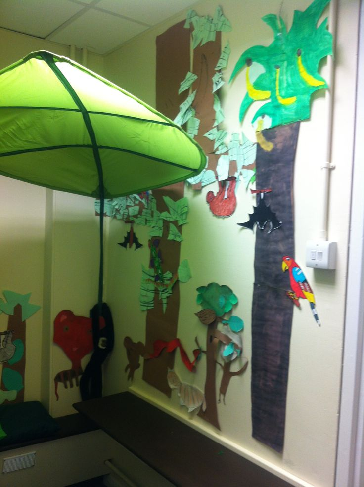 Classroom Ideas Bulletin Boards ~ Rainforest role play area jungle pinterest