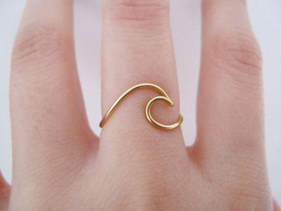 Wave Ring// gold wave ring ring wave ocean ring by TheHumbleRing
