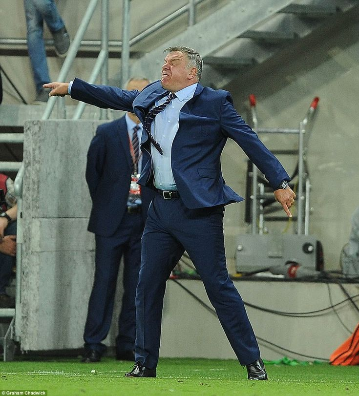 Big Sam shows his frustration with his side on the touchline as the Three…