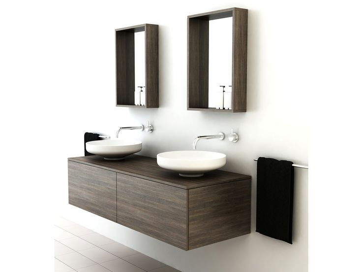 The omvivo venice collection balances modern symmetry and for Modern bathroom basins