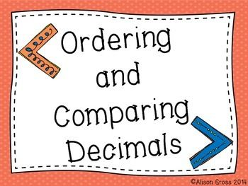 Comparing and Ordering Decimals: Whole Group & Small Group-A fun, cooperative, and kinesthetic math activity to introduce comparing and ordering decimals!