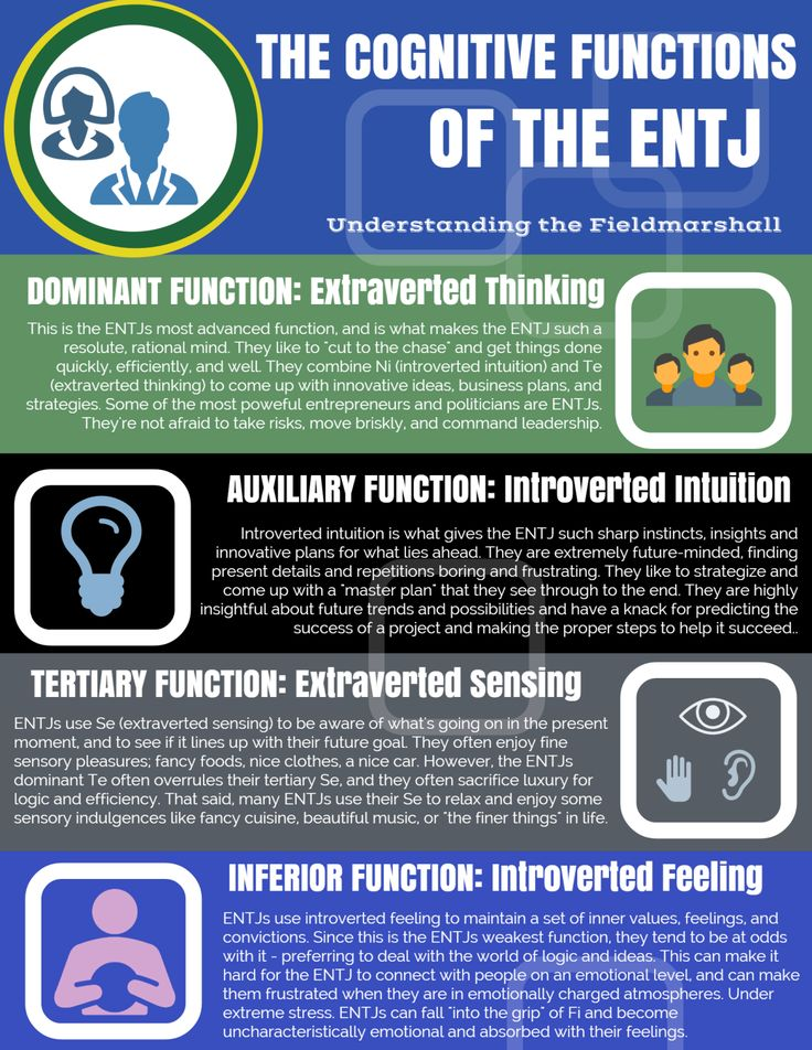 entj This article covers the different between the myers-briggs personality types entj vs intj including strengths, weaknesses and common characteristics.