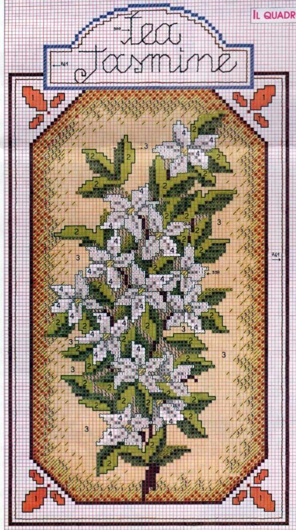 Jasmine tea color's key on cinnamon tea