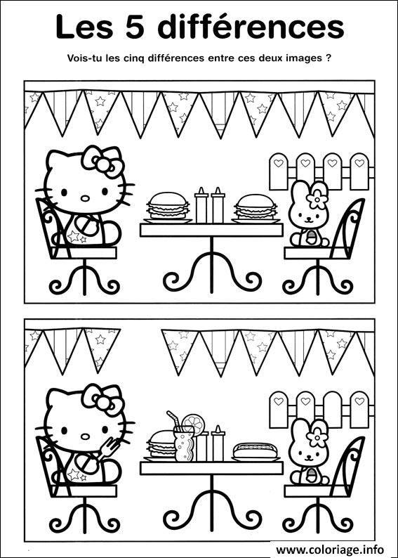 Coloriage Jeux A Imprimer Difference Hello Kitty A Imprimer Jeux A Imprimer Jeux Coloriage Jeux Des Erreurs