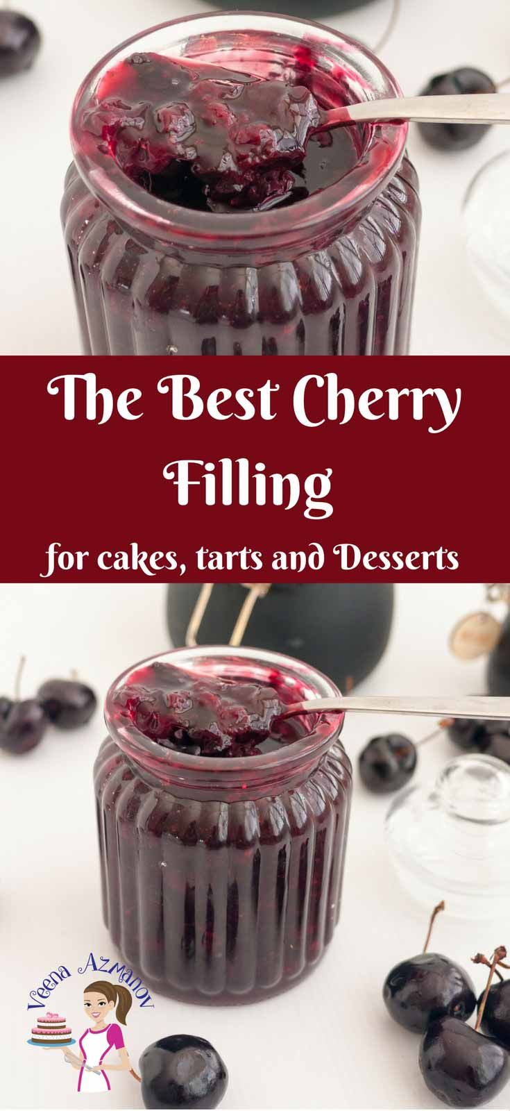THE BEST CHERRY FILLING RECIPE FOR CAKES PIES AND DESSERTS  HOW TO MAKE CHERRY F…
