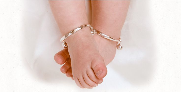 Saffron Bells Baby Anklets With Bells Christening And