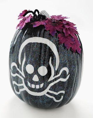 Sparkle up a skeleton pumpkin. - Mod Podge RocksMod Podge Rocks