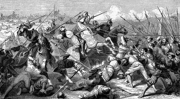 Le 11 avril 1512, bataille de Ravenne. -4° guerre d'Italie . A la bataille prennent part les plus célèbres chevaliers et aventuriers de l'époque, entre autres Bayard et Gaston de Foix-Nemours du côté français et Romanello de Forli, alors très connu pour être un des vainqueurs du défi de Barletta. Les Français guidés par Gaston de Foix Nemours, reçoivent l'aide décisive de l'artillerie d'Este, qui sous la direction du duc Alphonse I° d'Este, était à cette époque parmi les plus efficaces…