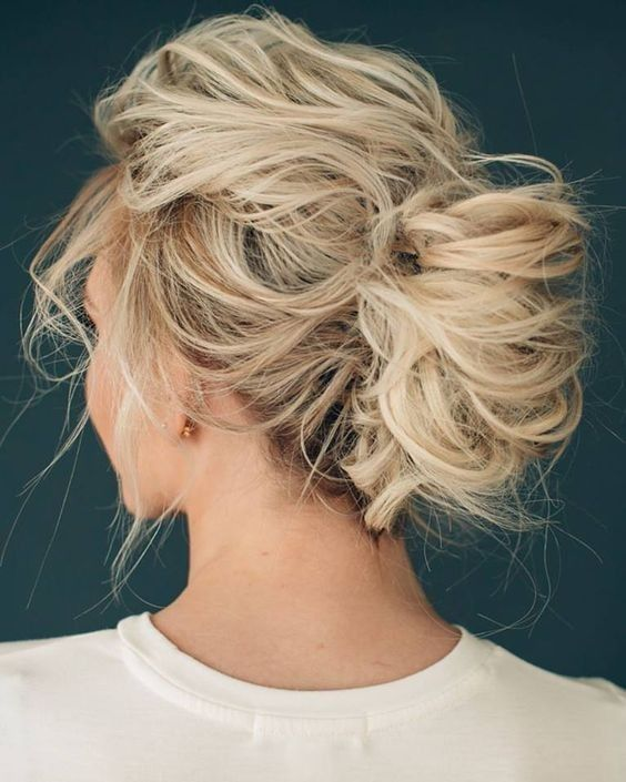 10 Pretty Messy Updos for Long Hair: Updo Hairstyles 2017                                                                                                                                                                                 More