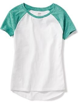 Relaxed Raglan-Sleeve Tee for Girls | Old Navy