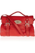 Alexa red textured-leather satchel #MULBERRY