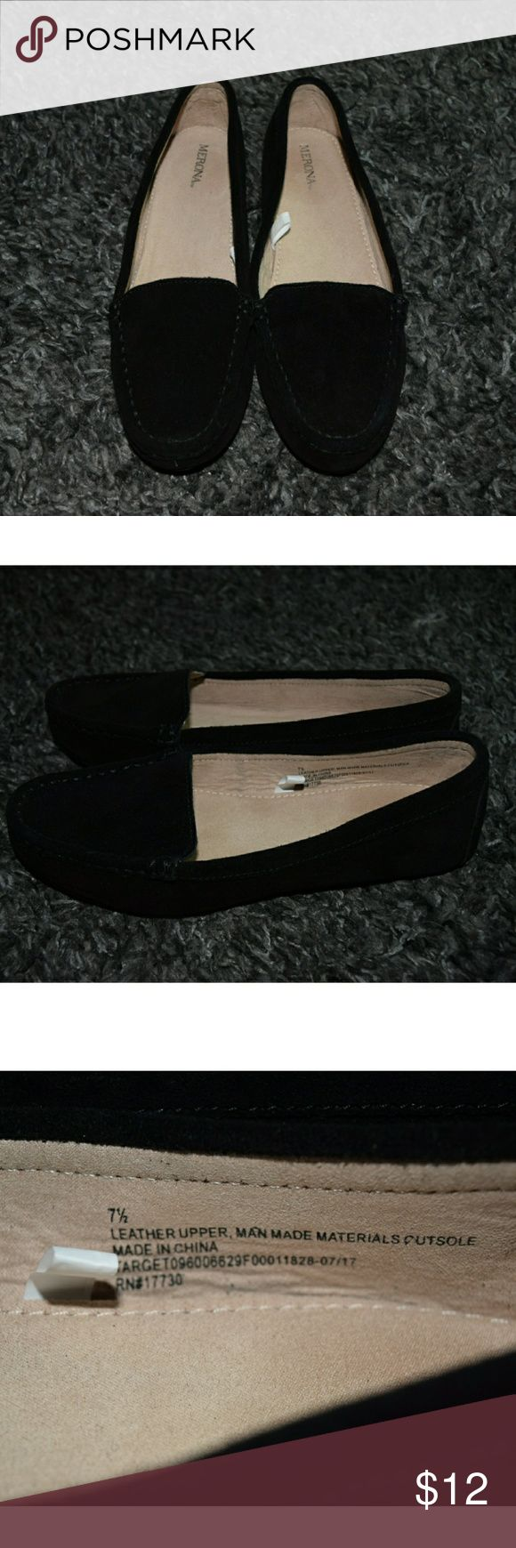 Black Leather Loafer NWOT - never worn. Leather upper. Perfect for the office or a night out. Merona Shoes Flats & Loafers
