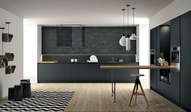 Aspen kitchen by Doimo. FENIX NTM, Nero Ingo.