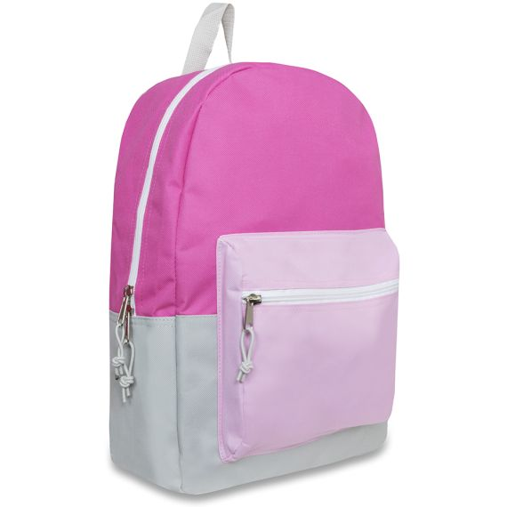 WHOLESALE TRAILMAKER 17 INCH COLOR BLOCK GIRLS BACKPACKS These will ship within 3-5 business days. SPECIFICATIONS- - Measures 17 x 12 x 5.5 - Made From 600 Denier Polyester - Padded Adjustable Straps