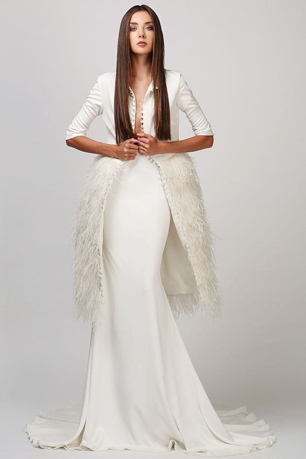 Great Lord Zara from Love Found True wedding dresses White Dahlia Collection Feathered peplum