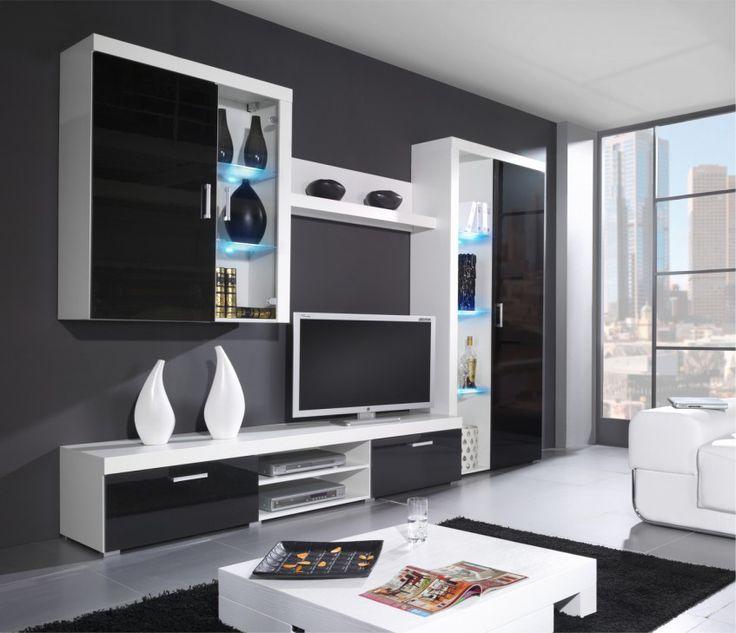 Die besten 25+ Wohnwand weiß hochglanz günstig Ideen auf Pinterest - wohnwand wei modern