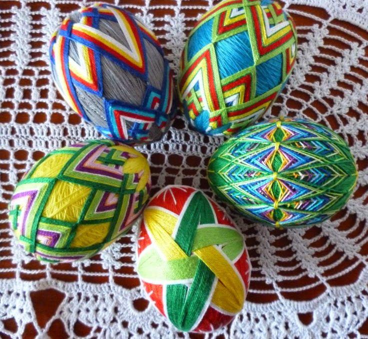 Magiczne Sploty : Pisanki z haftem temari