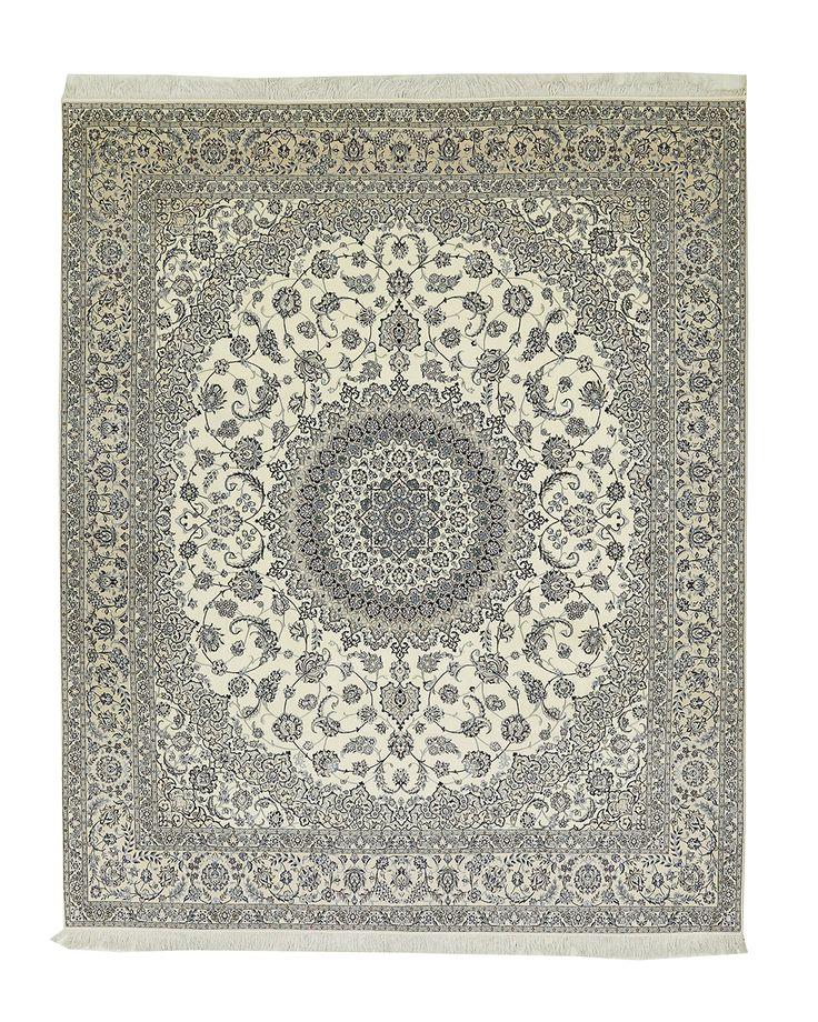 Exclusief Perzisch Nain 6-la tapijt blauw medaillon IMG AC 825