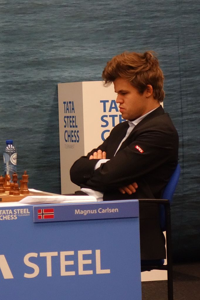 2017 chess champion, Magnus Carlsen-Magnus Carlsen, Tata Steel Chess Tournament 2017, Wijk aan Zee (the Netherlands), 28 January 2017