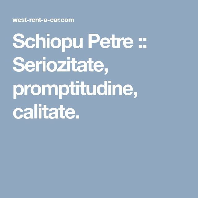 Schiopu Petre :: Seriozitate, promptitudine, calitate.