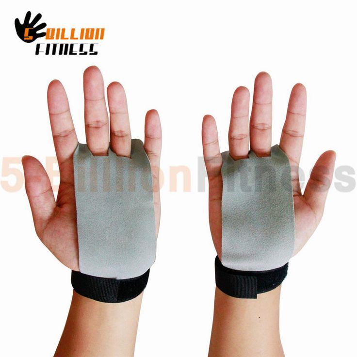 Fitness Crossfit Gymnastics Weight Lifting Grips Real Leather Pull Up Gloves Protectors Luva Hand Grips