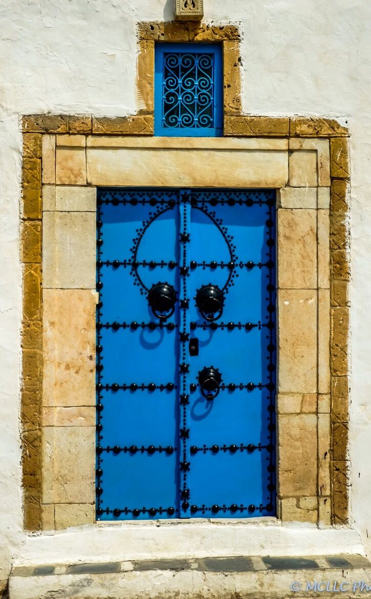 177 best tunisian architecture images on pinterest for Decoration porte sidi bou said