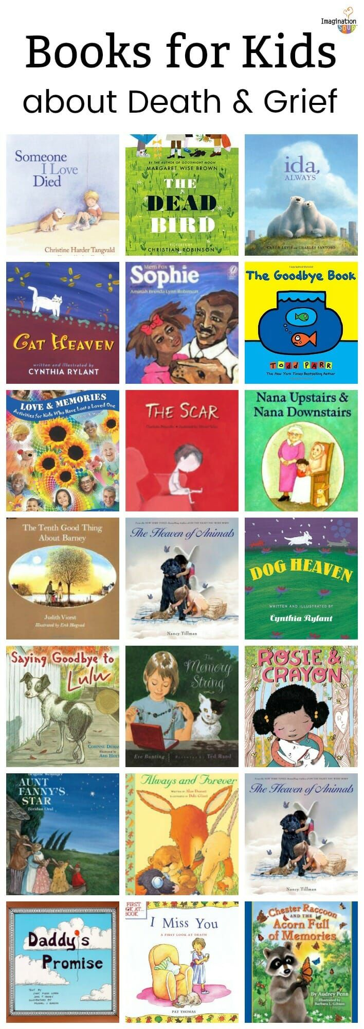 21 helpful picture books for children about grief and the death of a parent, relative, friend, or pet #grief #death #kids #childrensbooks #books