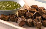Big things come in little packages! The tangy parsley and garlic dipping sauce for these steak bites packs an irresistible punch of flavor.