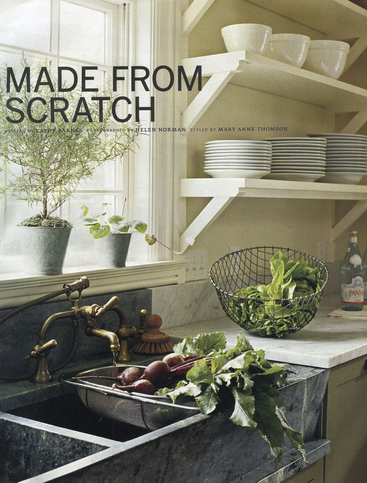 Love The Open Shelves, Soapstone Sink, Unlacquered Brass Fixtures, Combo