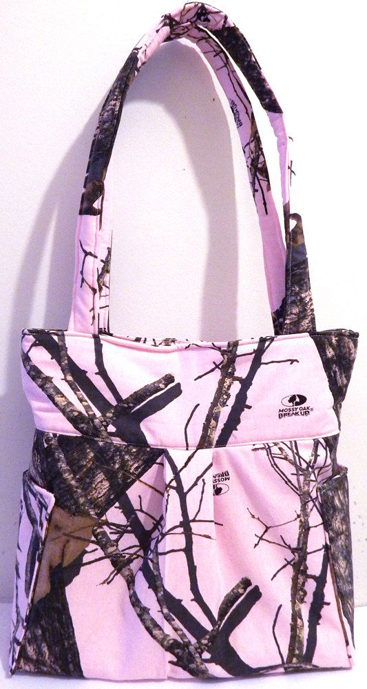 Pink Mossy Oak Realtree Camo  Pleated Bag by DeloresCreations