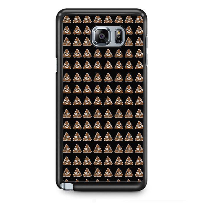 Emoji Poop Funny Emoticon Symbol TATUM-3960 Samsung Phonecase Cover Samsung Galaxy Note 2 Note 3 Note 4 Note 5 Note Edge