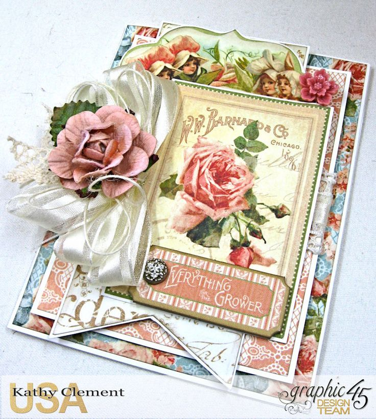 How to Quick & Easy Secret Garden Card W/Graphic 45